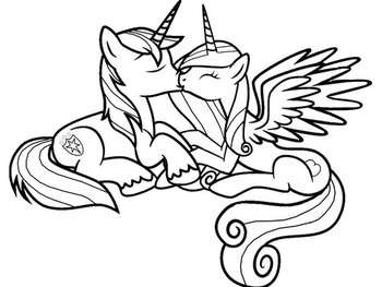 Раскраски пони Шайнинг Армор🖌 скачать и распечатать онлайн