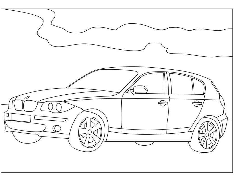 Раскраски BMW 🖌 скачать и распечатать онлайн