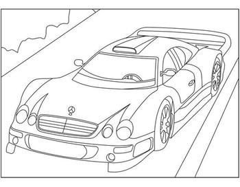 Раскраски Mercedes 🖌 скачать и распечатать онлайн