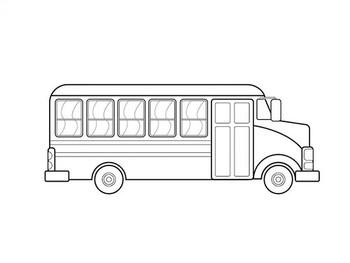 раскраски автобусы скачать и распечатать онлайн страница 2