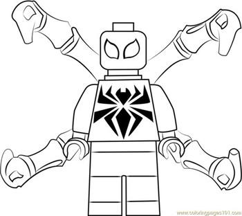 Раскраски Лего Человек паук 🖌 скачать и распечатать онлайн ...