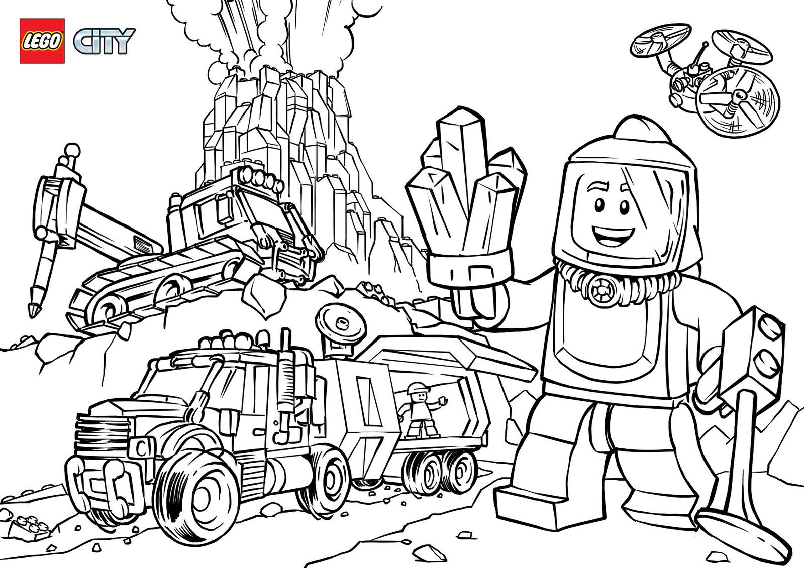 Раскраски Лего Сити 🖌 скачать и распечатать онлайн