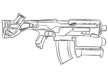 Раскраски Оружие 🖌 скачать и распечатать онлайн