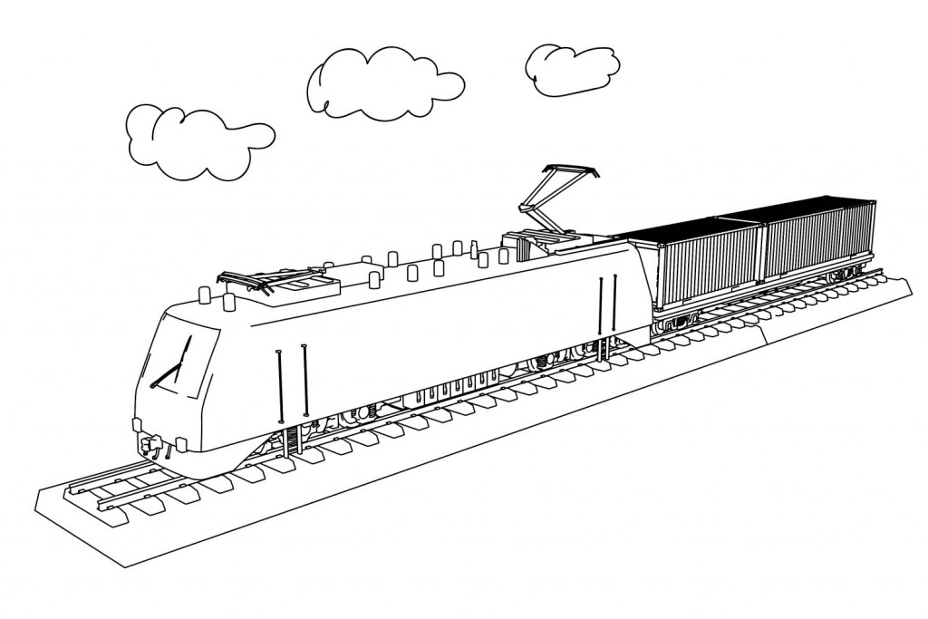 Учебная машина, мультяшные открытки поезд с танками цистернами полувагонами
