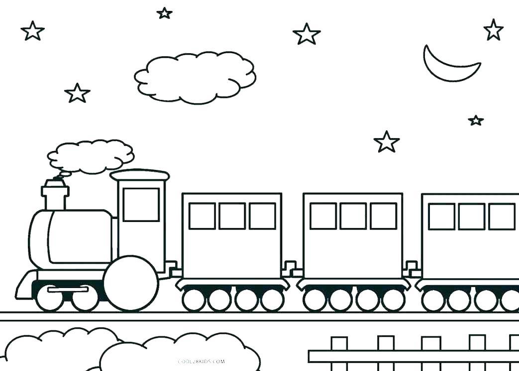 Раскраски Детские поезда 🖌 скачать и распечатать онлайн