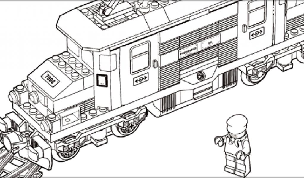 Раскраски Поезда ЛЕГО 🖌 скачать и распечатать онлайн