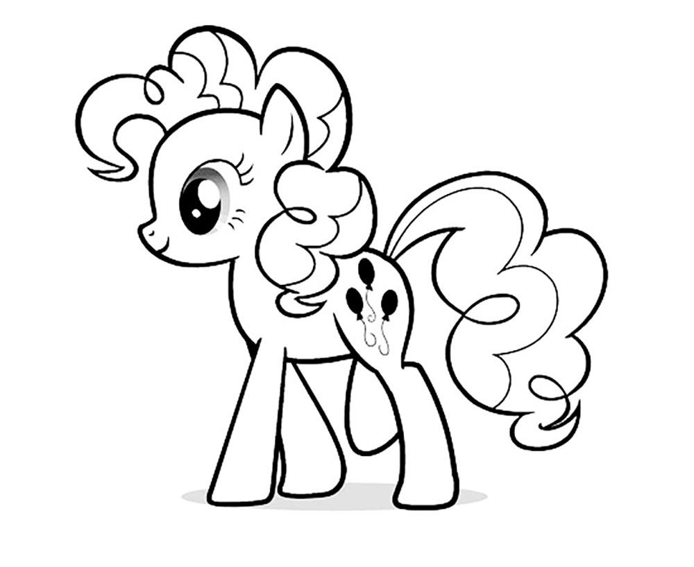 раскраска пони пинки пай скачать и распечатать онлайн