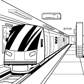 Раскраски Поезда скачать и распечатать онлайн