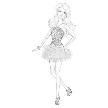 Раскраски Барби модница🖌 скачать и распечатать онлайн