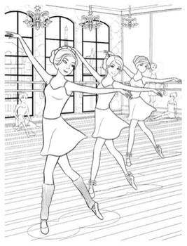 Раскраски Барби балерина🖌 скачать и распечатать онлайн ...