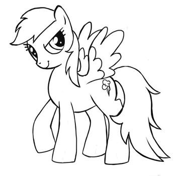 Раскраски пони Радуга Дэш🖌 скачать и распечатать онлайн ...